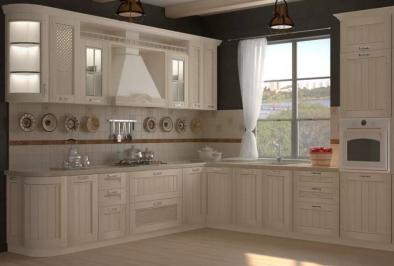 "Кухня ""Белый кварц"""